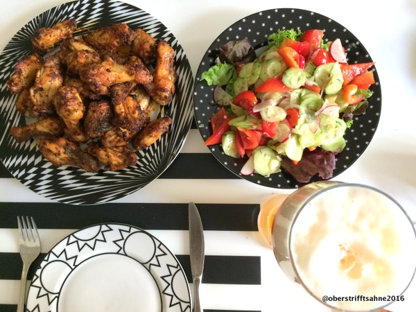 Chicken Wings in Buttermilch vorgekocht