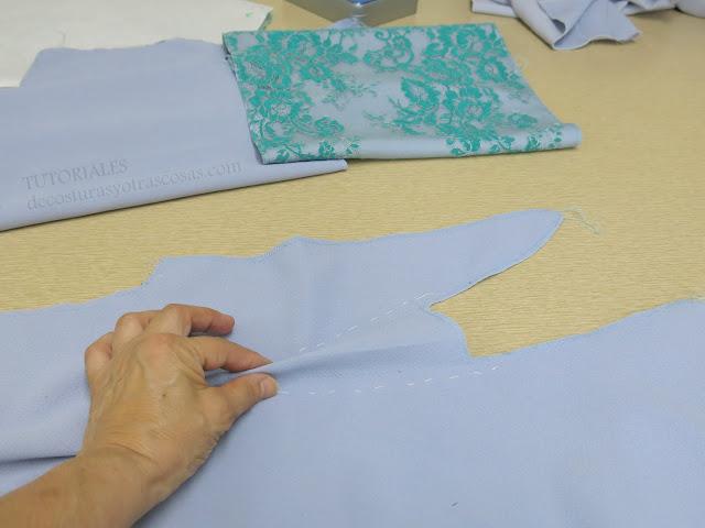 como coser pinzas con forma redondeada