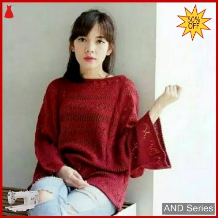 AND221 Baju Atasan Wanita Blouse Crop Jaring BMGShop