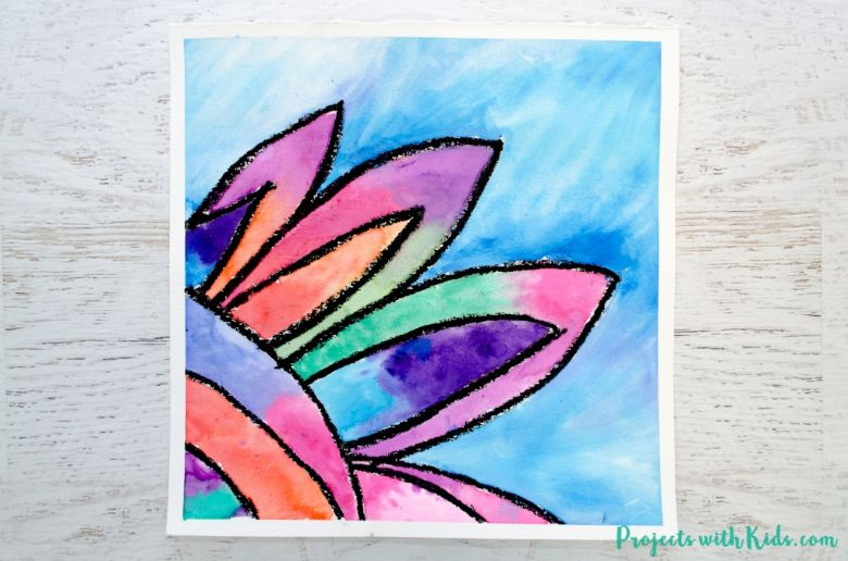 watercolor flower painting ideas for kids