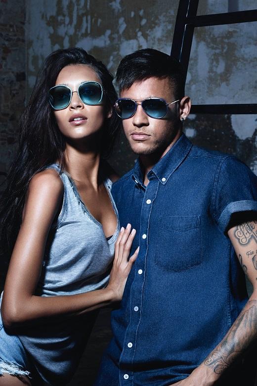 Lunettes soleil, Neymar Jr, ambassadeur marque Police, mode hommes