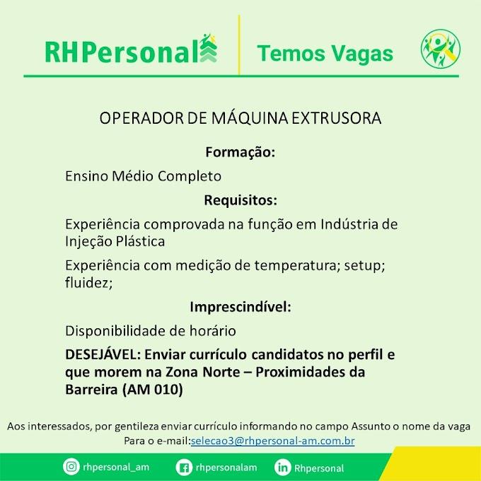 OPERADOR DE MÁQUINA EXTRUSORA