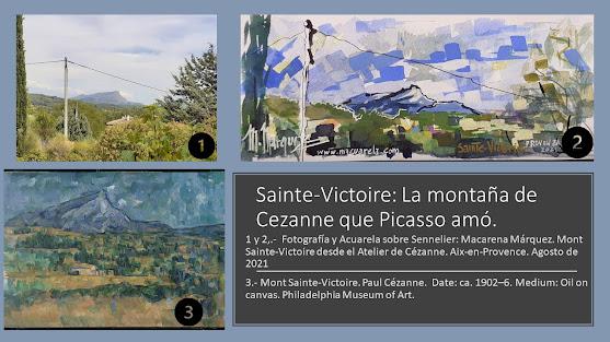 """<alt=""""Sainte-Victoire desde el atelier de Cezanne www.macuarela.com""""/>"""
