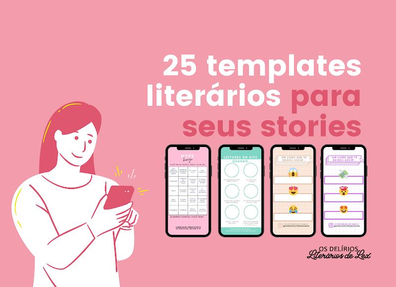 25 Templates Literários para responder nos stories