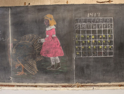 100 Year Old Hidden Blackboard Drawings Discovered