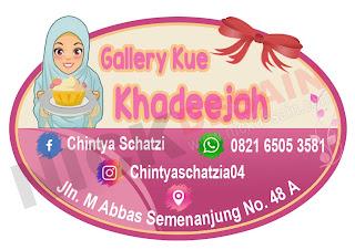 gallerty kue khadeejah - percetakan tanjungbalai - logo label