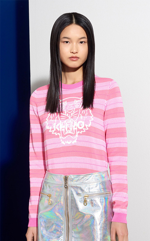 Pull femme Kenzo Rose Tigre Silicone