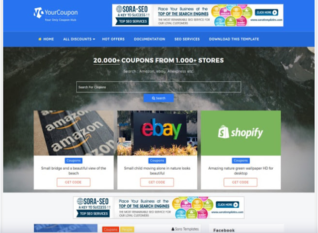 Best Coupon Blogger Template • Blogspot Templates 2019