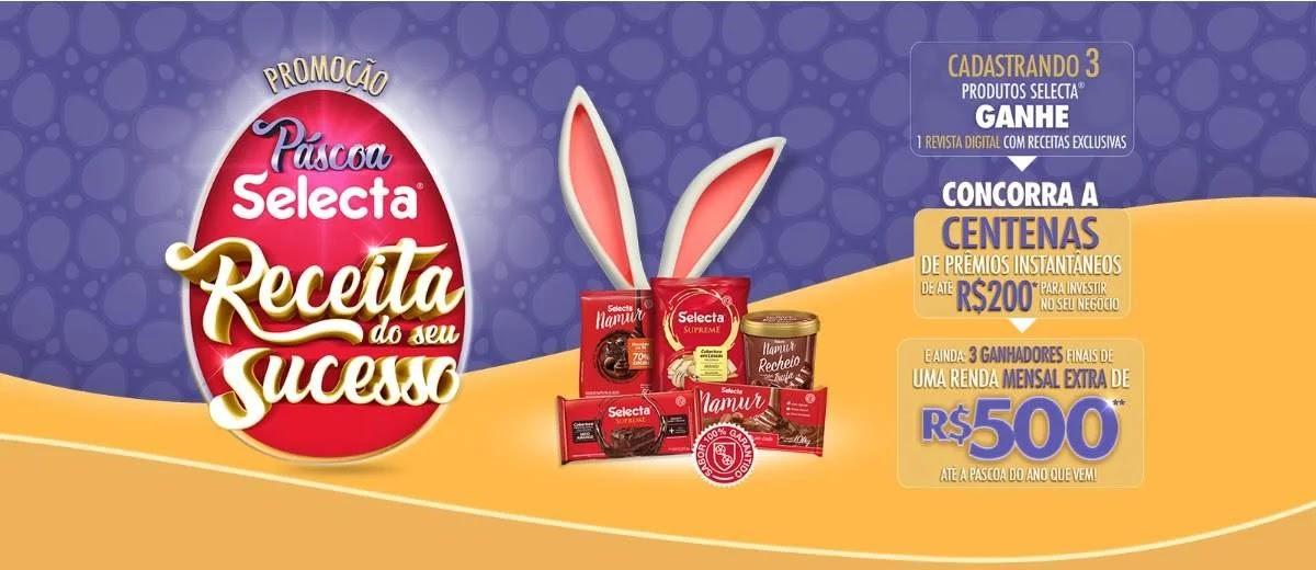 Promoção Páscoa 2020 Selecta Chocolates Vales-Compras e Prêmios