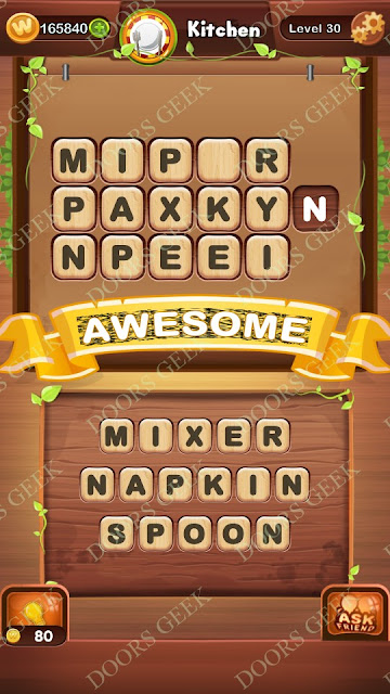 Word Bright Level 30 Answers, Cheats, Solutions, Walkthrough for android, iphone, ipad and ipod