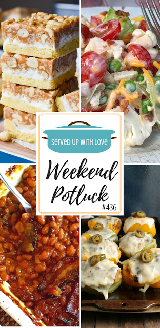 Weekend Potluck featured recipes include Overnight Salad, Salted Nut Roll Bars, Southwestern Stuffed Peppers, Anastasia's Best-Ever Baked Beans, and so much more.