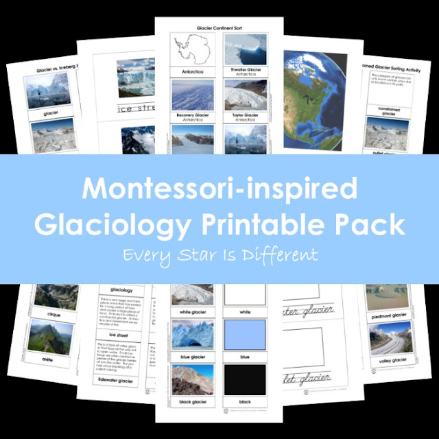 Montessori-inspired Glaciology Printable Pack