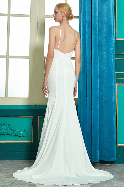 sexy new halter bridal gown with open back