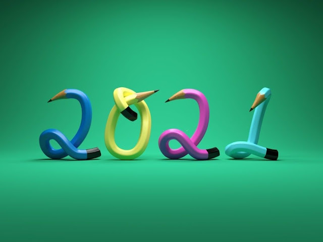 Creative Happy New Year 2020 HD Wallpaper
