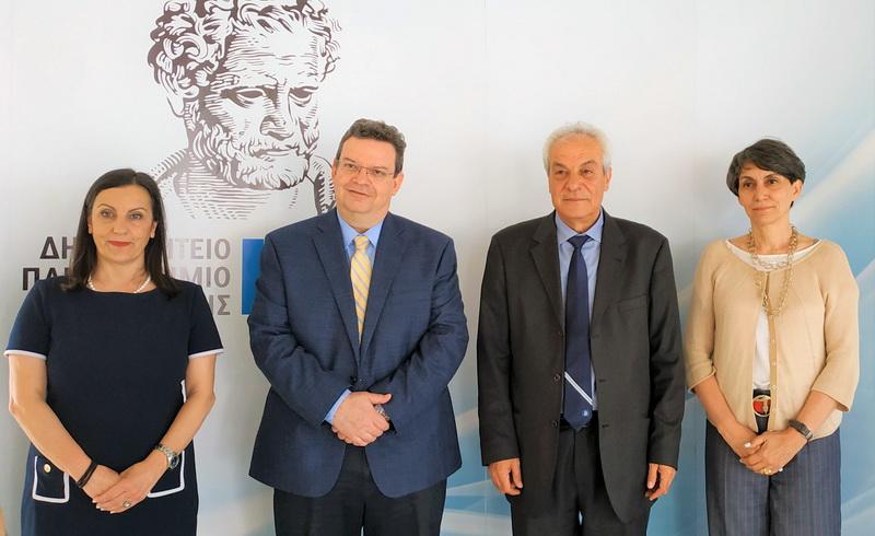 Συνάντηση εργασίας του Προέδρου της ΕΘΑΑΕ Περικλή Μήτκα με τις Πρυτανικές Αρχές του ΔΠΘ