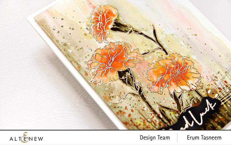 Altenew Paint-A-Flower: Carnations Release | Erum Tasneem | @pr0digy0