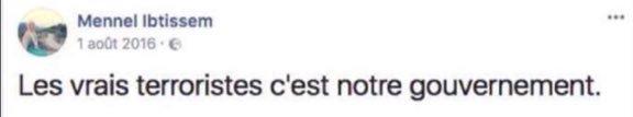La réaction de Mennel Ibtissem à l'attentat de Saint-Étienne-du-Rouvray