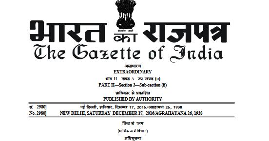 Gazette Notification No. S.O. 4086(E), in continuation of