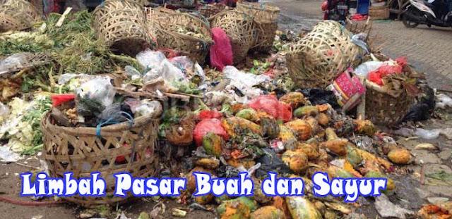Limbah pasar sayur dan buah pakan maggot bsf