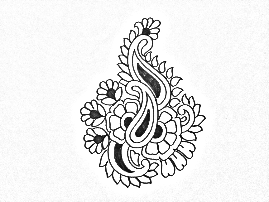 Flower drawingembroidery flowers butta sketch on paper draw online draw embroidery abstract butta designs pencil sketches paisley pattern sketch embroidery paisley pattern on paper kairee designs sketch mightylinksfo