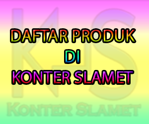Daftar Produk Konter Slamet