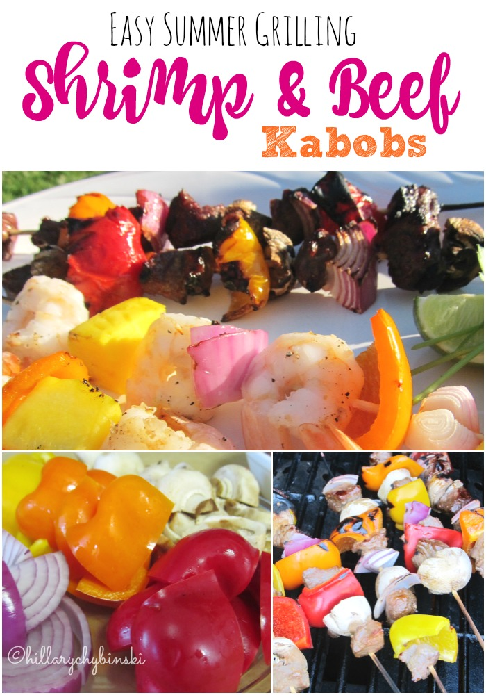 Easy Summer Grilling Idea and Recipe: Shrimp and Beef Kabobs