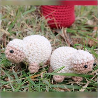 patrón amigurumi Mini ovejas lanas y ovillos