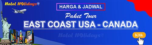 Jadwal dan Harga Paket Wisata Halal Tour Amerika East Coast USA Canada