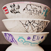 Sharpie Dishes by Over The Apple Tree