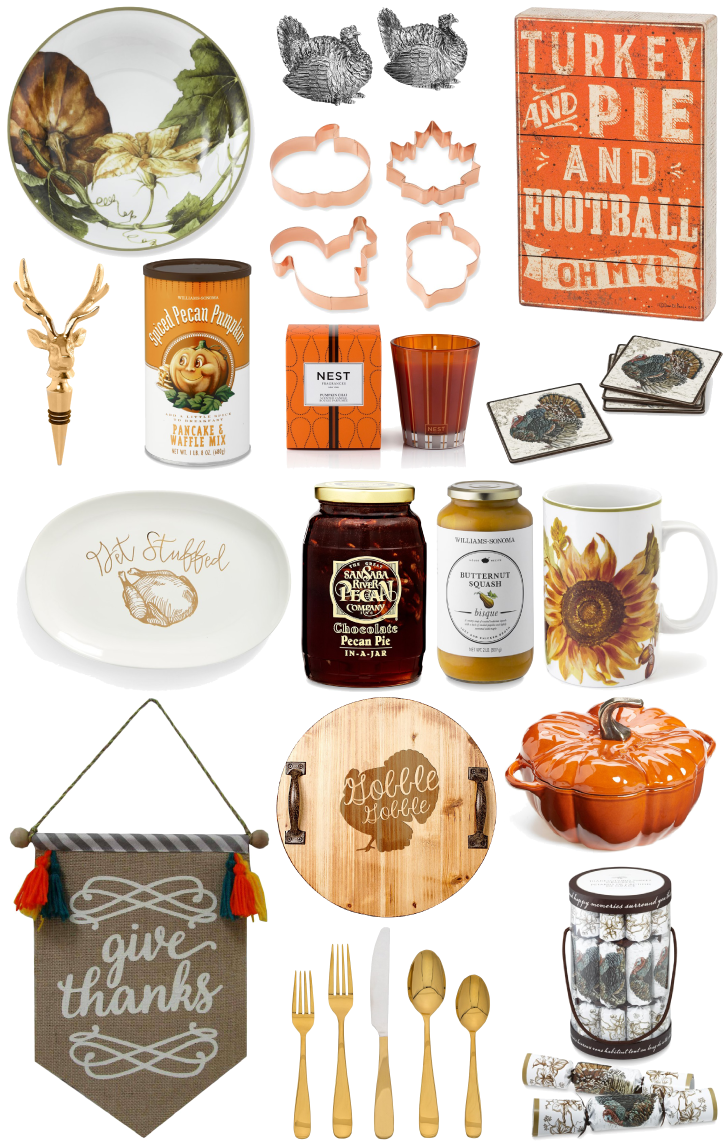 holidays thanksgiving home decor nordstrom williams-sonoma pumpkin turkey pottery barn