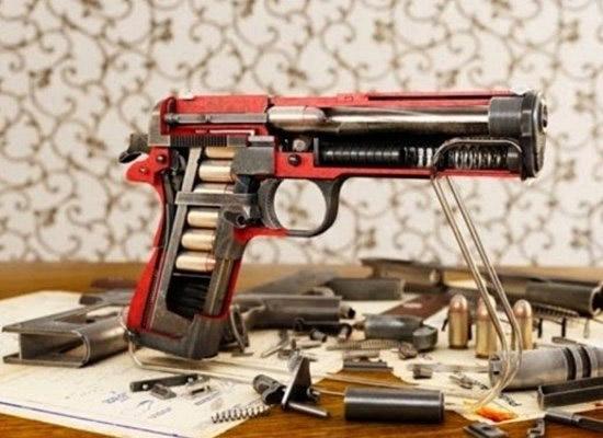 Objetos cortados pela metade - Revolver