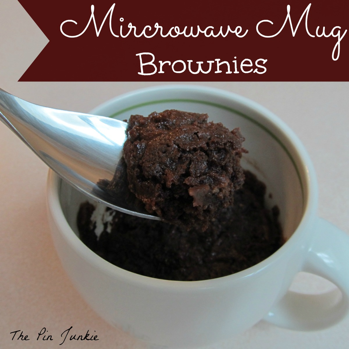 single serving microwave mug brownies