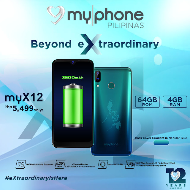MyPhone myX12 with 4GB RAM