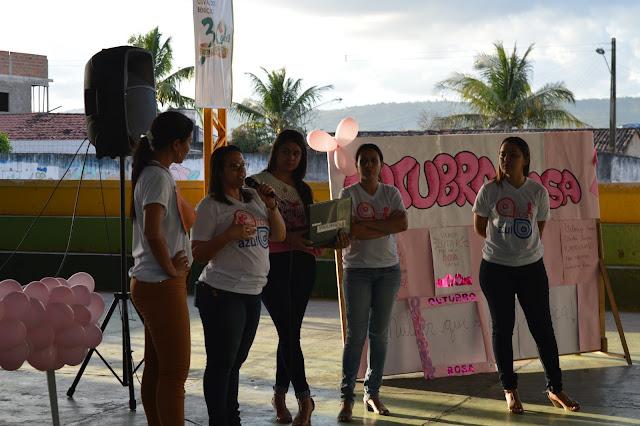 LOCAL: Palestra sobre a Prevenção do Câncer de Mama foi realizada no Colégio Municipal Osvaldo Benício.