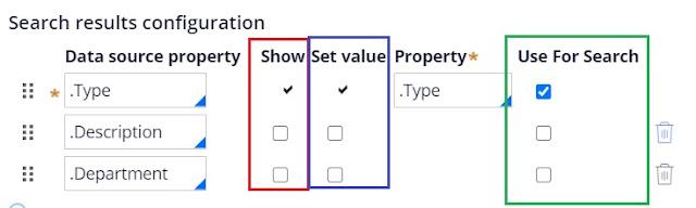 search config multi select