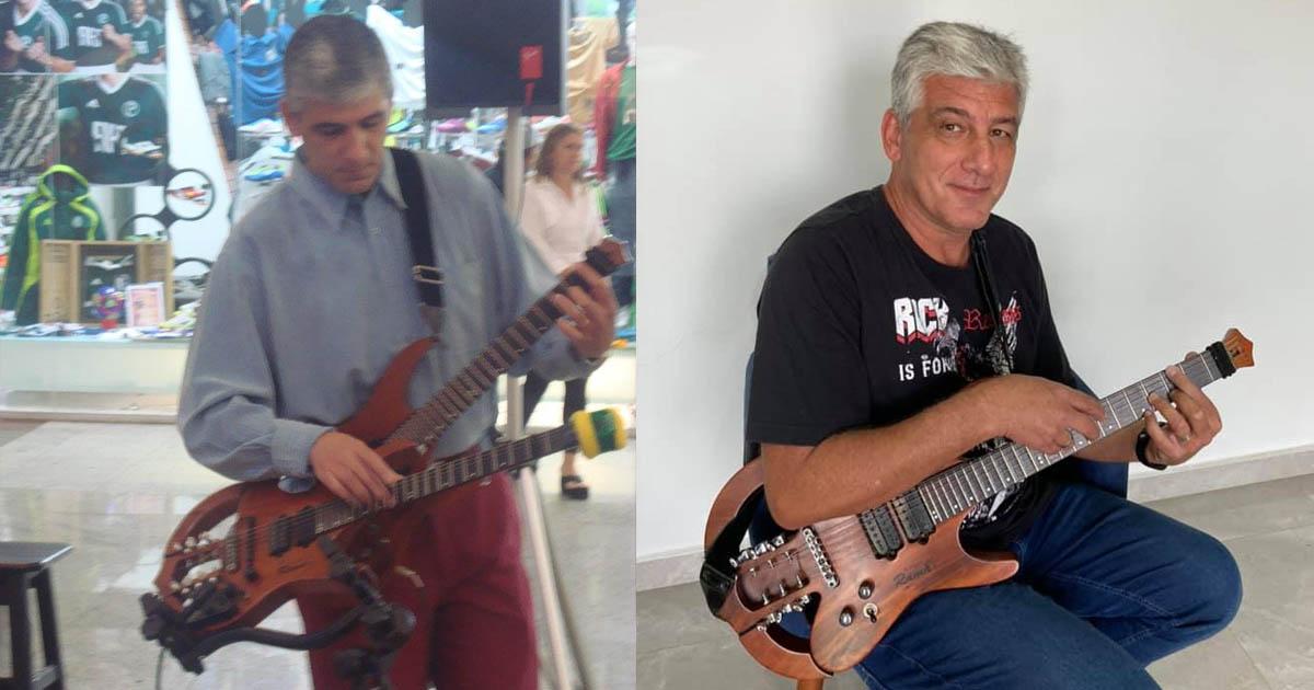 Adriano Reis o  mestres da guitarra Two Hands do interior de São Paulo