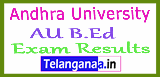 Andhra University AU B.Ed Exam Results