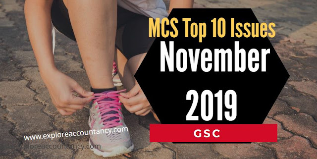 Top 10 Issues video for MCS November 2019 - CIMA Management Case Study - GSC
