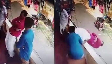 Penyelamatan pria yang terjatuh dari balkon