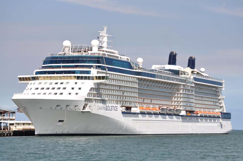 Celebrity Solstice Docked at Station Pier, Port Melbourne ...