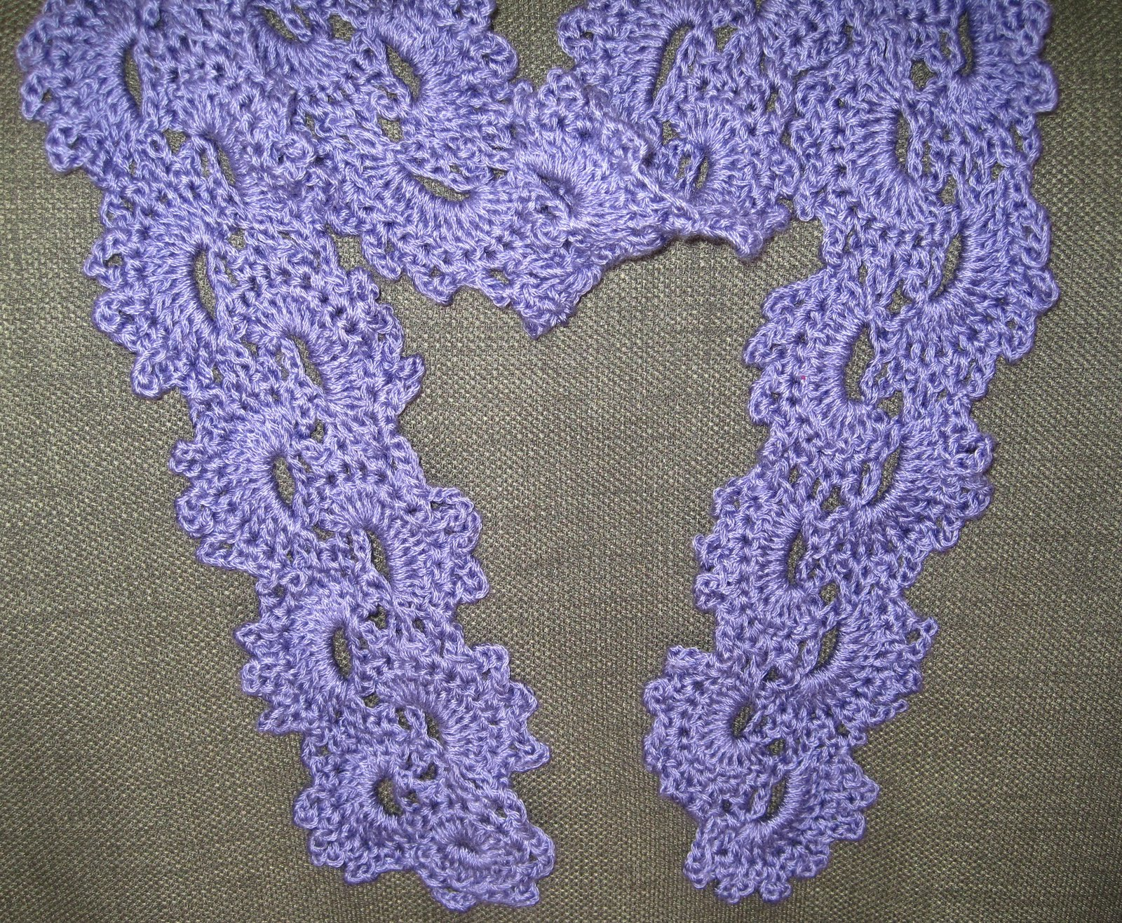 Mr Micawbers Recipe For Happiness Queen Annes Lace Crochet Scarf