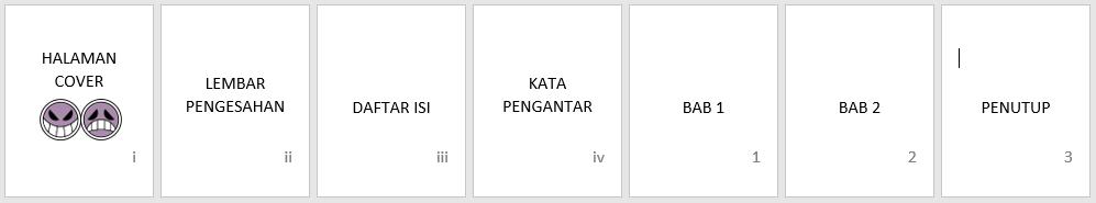 format nomor halaman berbeda dalam satu dokumen