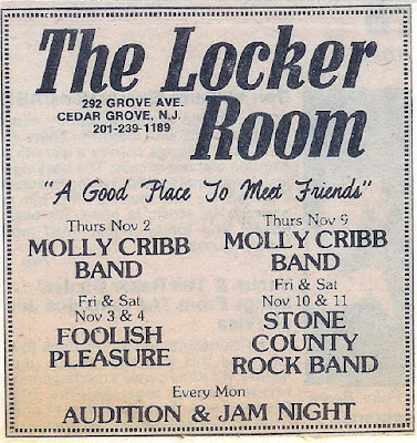 The Locker Room in Cedar Grove, New Jersey band lineup