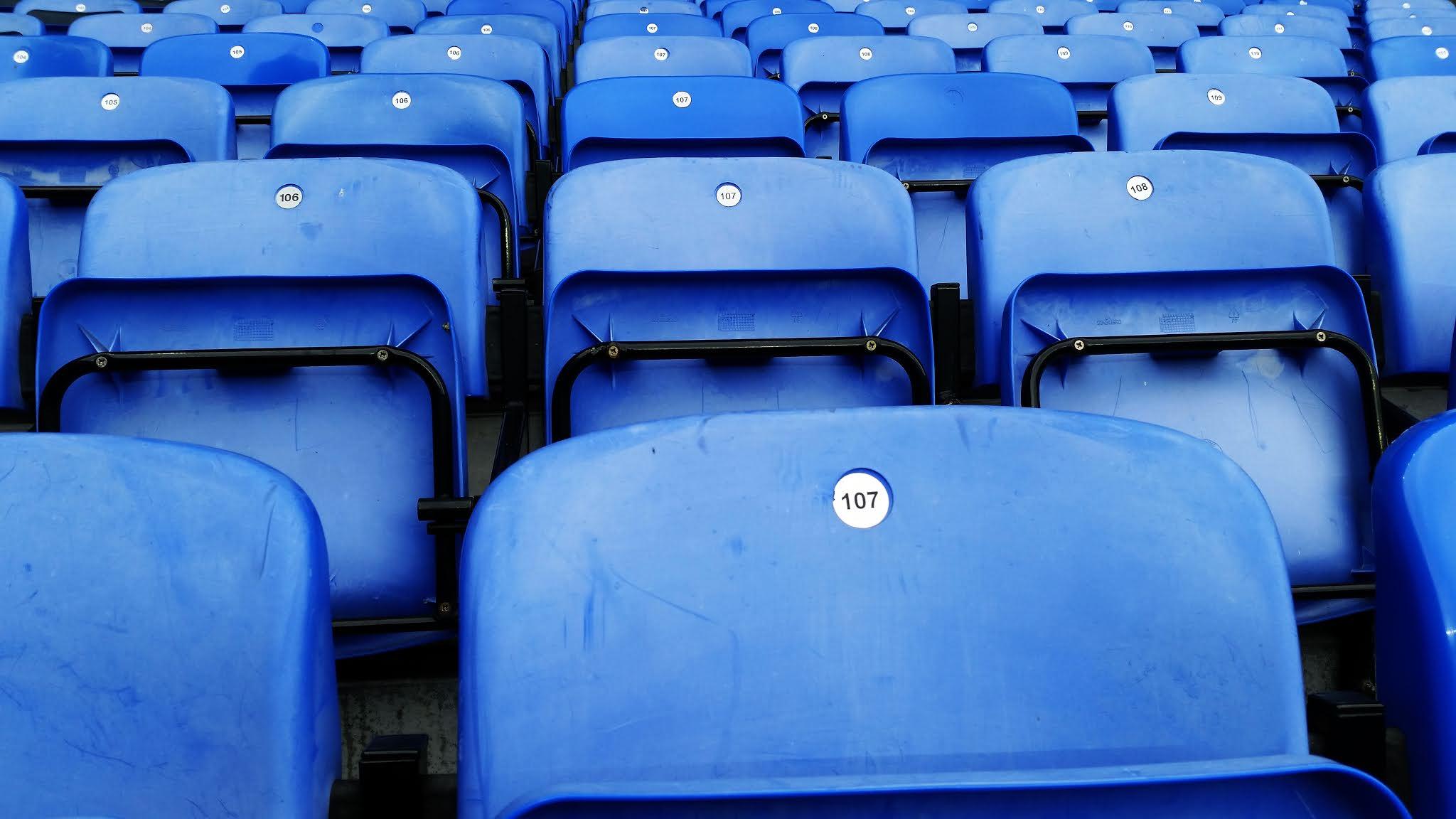 Seats at the Madejski Stadium