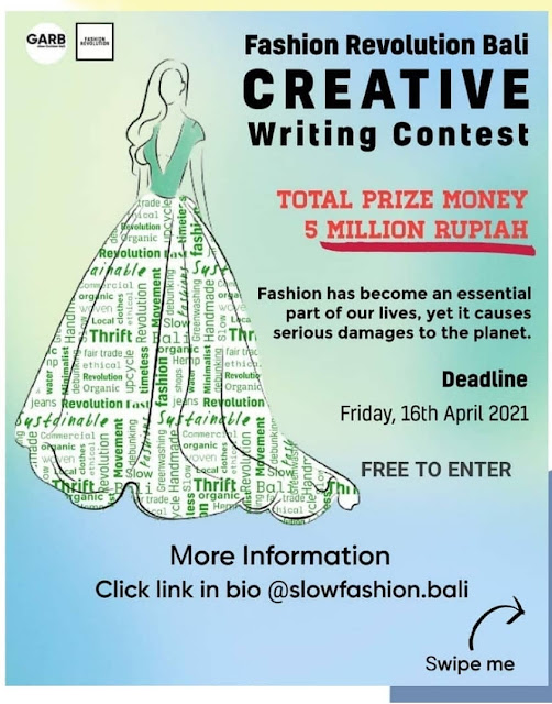 Creative Writing Contest - Fashion Revolution Bali