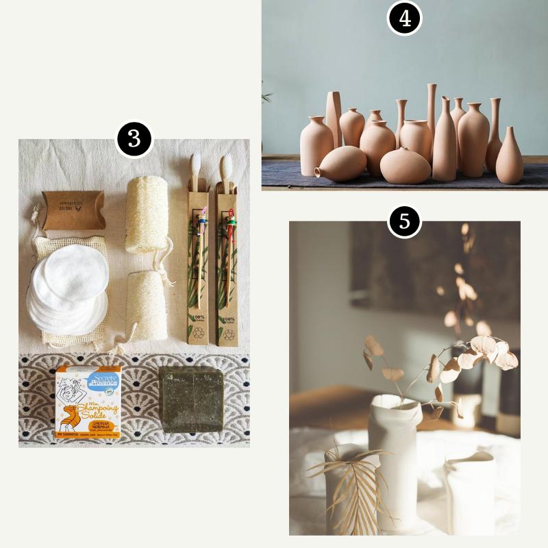 Coup de coeur deco maison etsy - zero dechet et vases minimalistes
