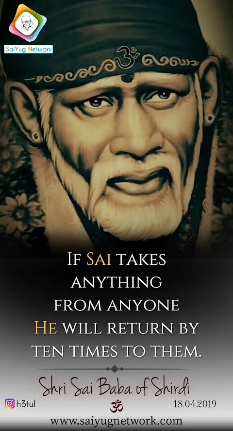 Ten Times Return - Sai Baba Face Painting Image