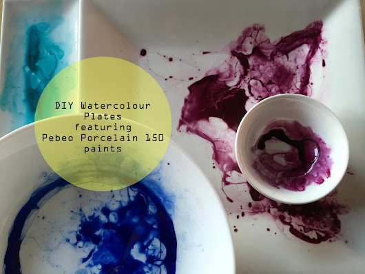 Watercolour Plates and Bowls - Using pebeo Porcelain 150 paints.