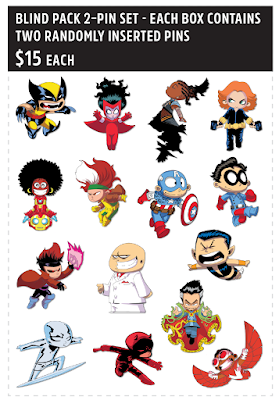 San Diego Comic-Con 2019 Exclusive Skottie Young Marvel Comics Character Pin Series