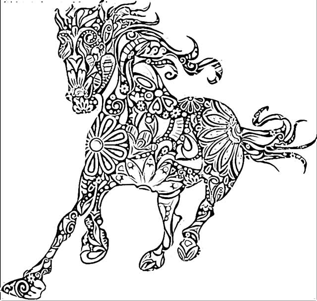 horse mandala coloring pages coloring.filminspector.com